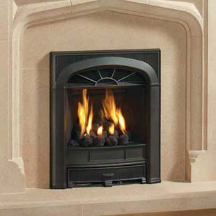 Gazco logic with cast iron richmond front